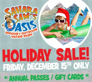 Give the Gift of Year-round fun!  Last call to get Black Friday prices! Friday, December 15th at 6 AM - online ONLY! Annual passes $39.99 + $40 Gift Cards just $25.