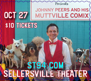 Johnny Peers and his lovable dogs are coming back to the Sellersville Theater to tickle your funny bone with one of our most beloved family shows! These Animal Planet stars perform fun, challenging tricks led by Johnny, a Ringling Brothers Clown College graduate. Some of Johnny's dogs are rescued from shelters, like Noodles, the world's only skateboarding basset hound and Squeaky, the ladder climbing terrier. Bring the whole family out to a show that is sure to impress and delight! Have a group of 15 or more? Tickets are only $8.50! To purchase, call the Box Office at 215-257-5808.