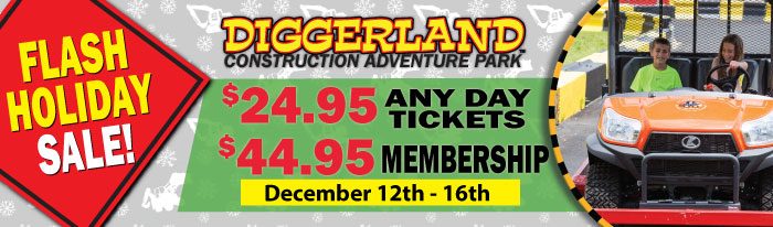 6940c4e697ee Your last chance to get the best deals of the year on Diggerland USA Any Day