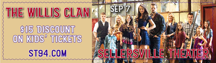Come to the Sellersville Theater on September 7 to see The Willis Clan. Gaining popularity with their TLC reality show, The Willis Clan is a Nashville family of 12 brothers and sisters. The Willis' became a household name after receiving national attention as contestants on America's Got Talent and they've performed more than 60 times at The Grand Ole Opry. Their albums are written, performed, engineered and produced by various members of the 14 person family and their live shows are full of meaningful songs, striking harmonies, driving rhythms and soaring anthems which also demonstrate their Irish music and dancing roots.