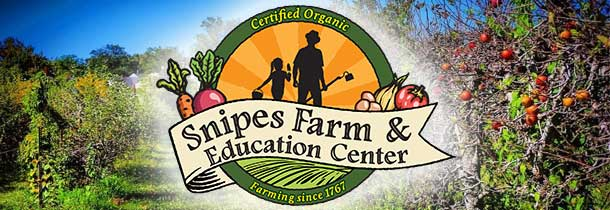 Snipes Farm and Education Center is a 501(c)(3) non-profit organization that brings vitality and empowerment to our community through organic food and education programs. Our Community Supported Agriculture (CSA) program provides fresh food, grown without pesticides or chemical fertilizers, to over 300 families, including vegetable shares to the Bucks County Homeless Shelter. Nutrition, farming, environmental and garden education programs serve thousands of children throughout the year. Children learn, create, make friends and have outdoor adventures at our summer camp! There are many happy birthday parties in spring, summer and fall here. Bonfires, hayrides and picnics have provided fun venues for youth/school groups and congregations. Classes for adults are offered in spring and summer. We are dedicated to sustainable farming practices and are 80% solar powered. Snipes Farm and Education Center offers hope through action.